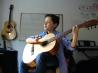 Elève en cours de guitare classique