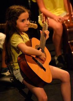 Guitariste classique en spectacle