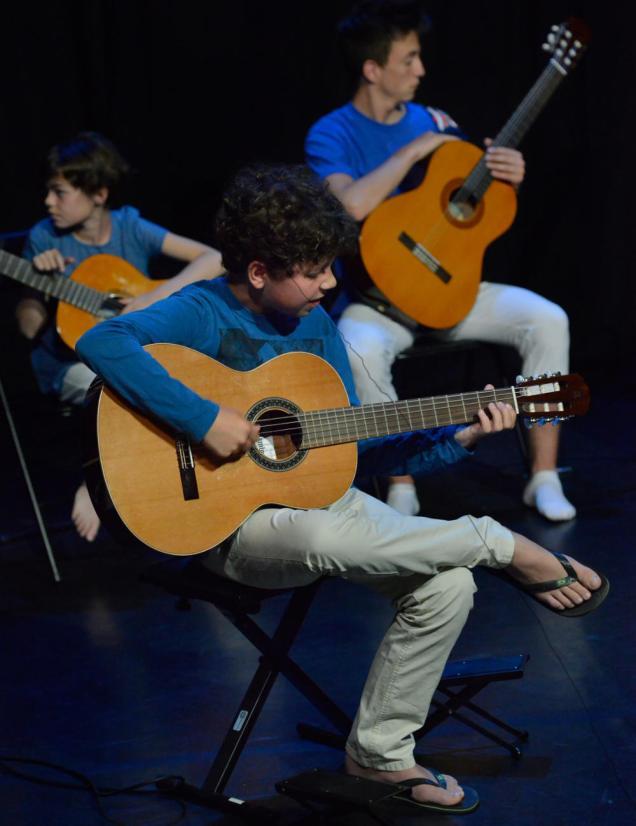 Guitaristes en spectacle